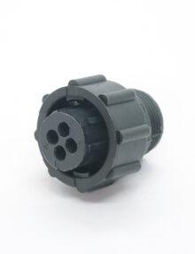 AMP Circular Plastic Connectors- 4 pin